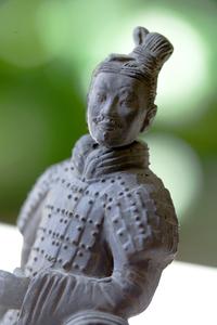 Macro Chinese Warrior Figure
