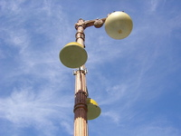 lamp post on sunny day