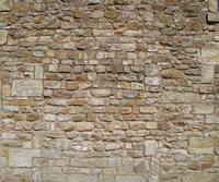 irregular sandstone wall