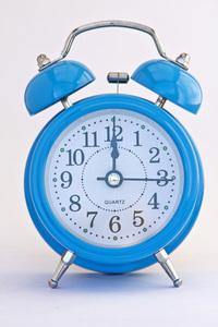 Blue clock with alarm