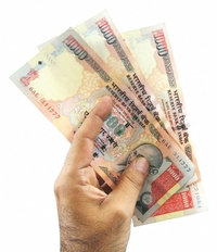 Rs. 1000/- Indian currency note worth about $23 at current price