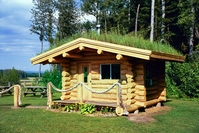 Cabane en bois rond