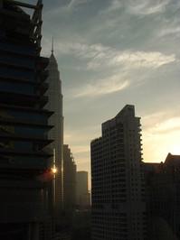 Dawn over Kuala Lumpur