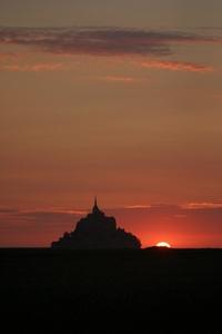 mont st. michel sunset 2