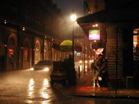 Rainy night in the French Quar
