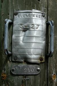 Old Swedish telecom sign