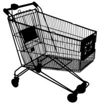 Shopping cart mask