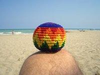 haggisack on the beach