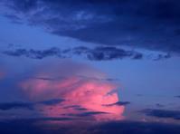 Thunderhead at twilight