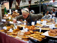 Food at Spitalfields Market