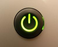 Printer power button