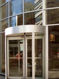 Revolving Glass Door