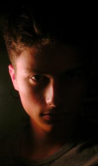 Halflit in Mirror, Michael Cha