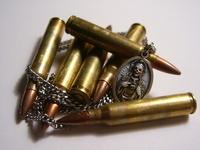 bullets on wood