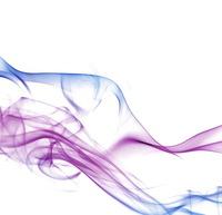 Colorful smoke on white photo