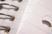 perforated notebook [macro]