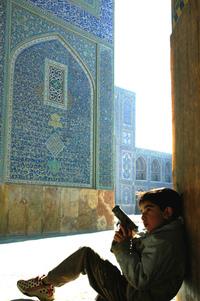 boy in imam mosque