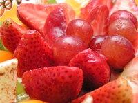 Macro of fruit cake 1
