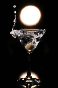 splash in the vodka