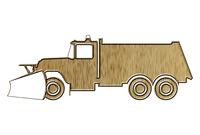Snowplow truck pictogram 1