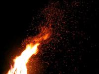 Roaring bonfire