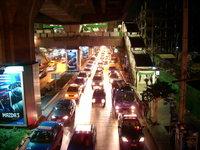 traffic jam siam square Bangko