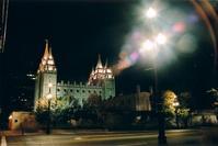 mormon temple salt lake night