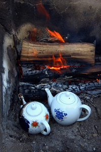 tea on fire