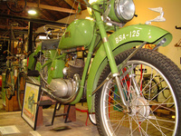 vintage bsa motorbike