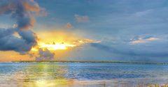Oil Slick Sunrise