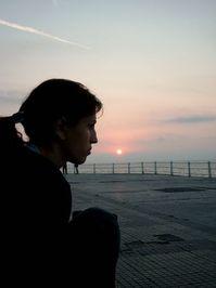 girl in the sun rise