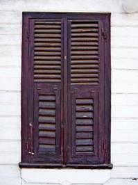 wooden window