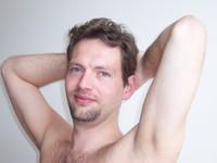 Husband posing for art class 1