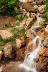 Brown Stone Waterfall