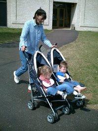 Twins Strolling