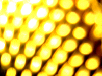 macro of gold