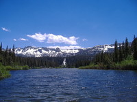 Sierra Nevada Lake in Summer