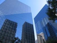 Buldings reflecting the view in Calgary