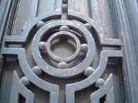 Steel door ornament