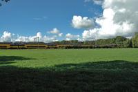 train crossing landscape
