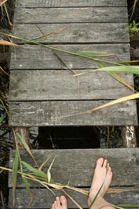 Hole in the little bridge