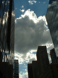 Clouds and Office Buildings
