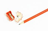 Wooden pencils and pencil sharper