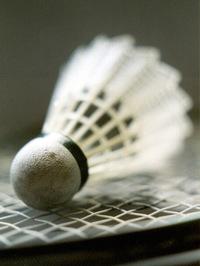 badminton, shuttlecock on rack