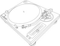 Turntable illustration