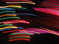 blurred chirstimas lights