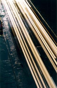 Blured cars lights