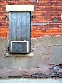 brick alley wall