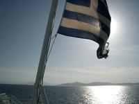 Greek Flag close to Athens