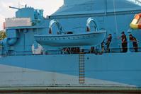 Lifeboat on old polish warship 5